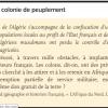 Qui vient s'installer en Algérie après la conquête militaire ?