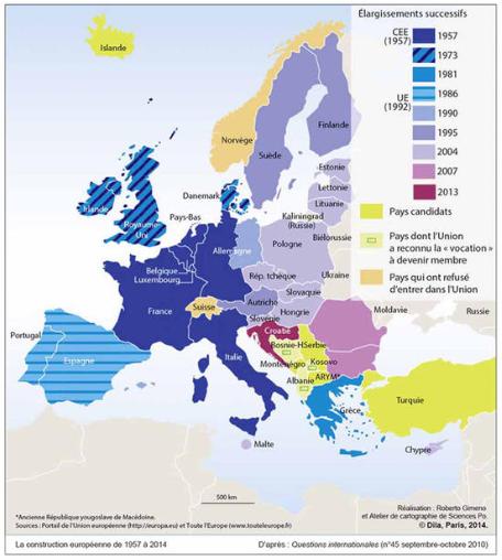 Qui sont les 6 pays fondateurs de la CEE ?