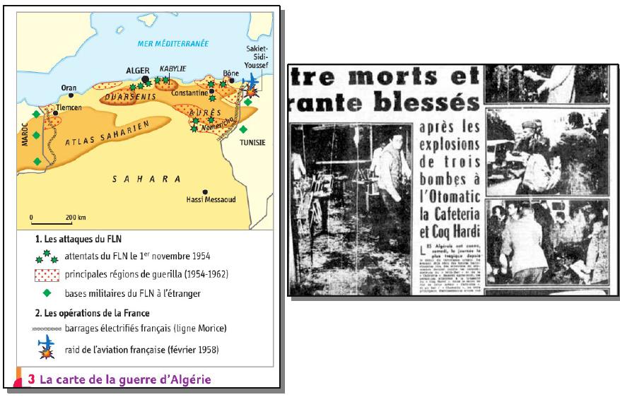 Quels sont les modes d'action du FLN durant la guerre d'Algérie ?