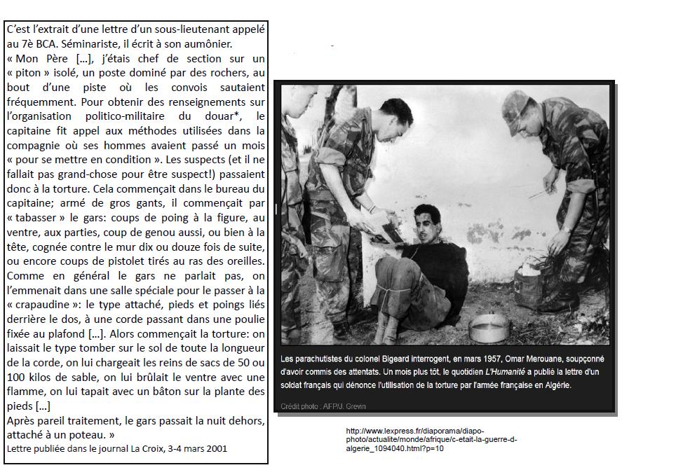 Quels sont les modes d'actions de l'armée française en Algérie ?