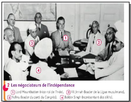 Quel parti a mené le combat pour l'indépendance de l'Inde ?