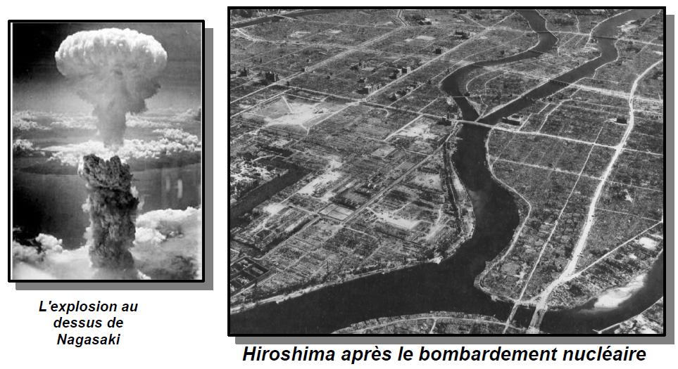 Datez es bombes atomiques d'Hiroshima et Nagasaki