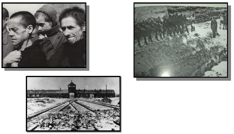 Classez dans l'ordre chronologique les différentes étapes du génocide des Juifs et tziganes