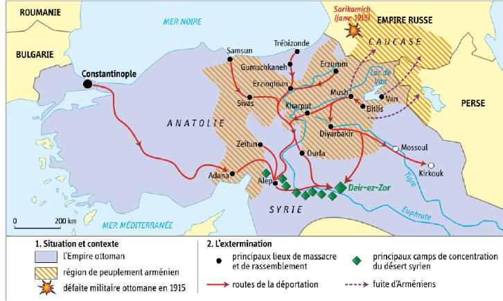 Quand et où se déroule le génocide arménien ?