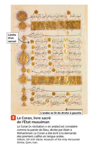 Quel le texte sacré de l'islam ?