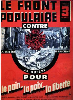 Que nous apprend cette affiche sur le programme du Front populaire ?